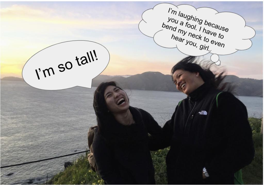 Tall asian girl